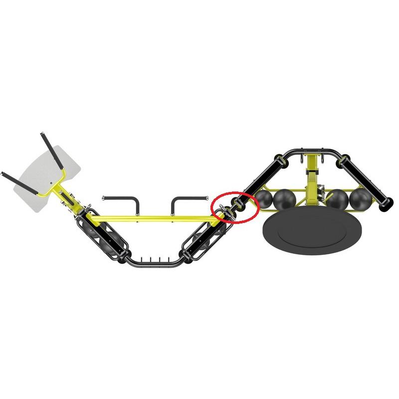 Crossfit keret összekötő elem