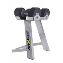 MX-55 állítható kézi súlyzószett állvánnyal 4,5-24,9kg-ig